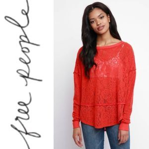 Free People Not So Cold In This Top Orange XS
